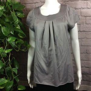 Semantiks gray textured short sleeve medium top